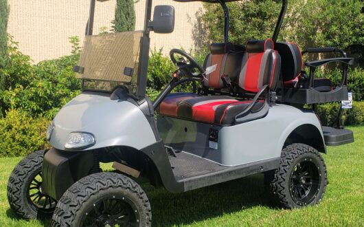 Ezgo Rxv Lifted 4 Passenger Golf Cart W/ Custom Paint
